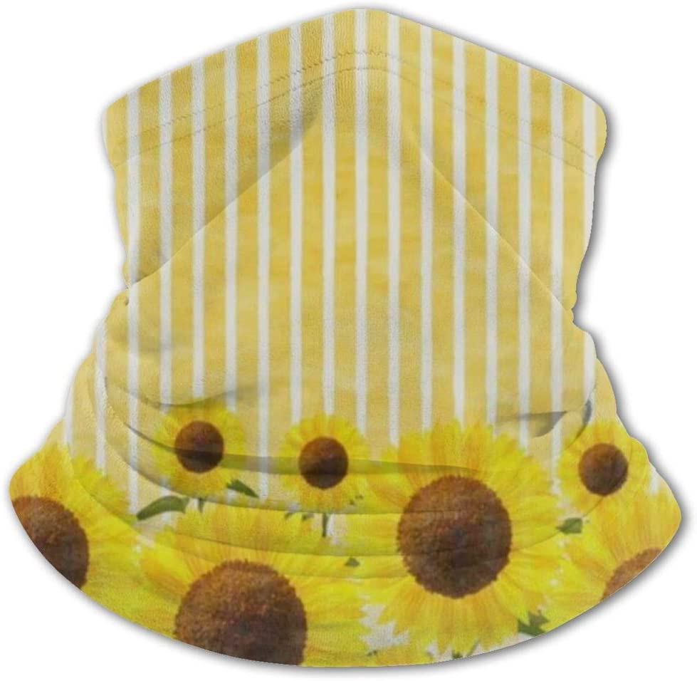 N\ A Spring Dandelion Dragonfly Sunflower Kids Neck Gaiter Face Mask Cooling Cloth Bavaclava Cool Ice Silk Bandana Reusable Washable Girls Boys Headband