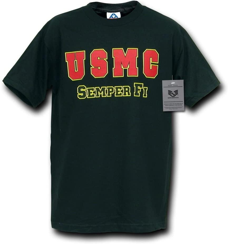 Rapiddominance USMC Classic Military T-Shirt, Black, Small