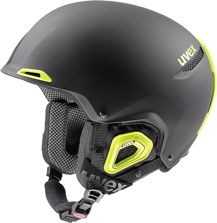 Uvex Jakk + Octo + Ski Helmet - Black/Lime Mat 55-59