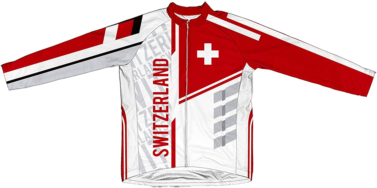 ScudoPro Switzerland Long Sleeve Cycling Jersey for Men