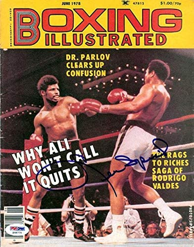 Leon Spinks Autographed Boxing Illustrated Magazine Cover #S48775 - PSA/DNA Certified - Autographed Boxing Magazines