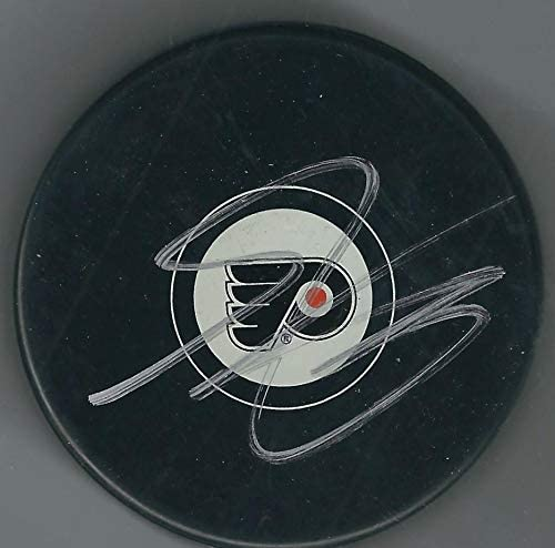 Shayne Gostisbehere Autographed Puck - Autographed NHL Pucks
