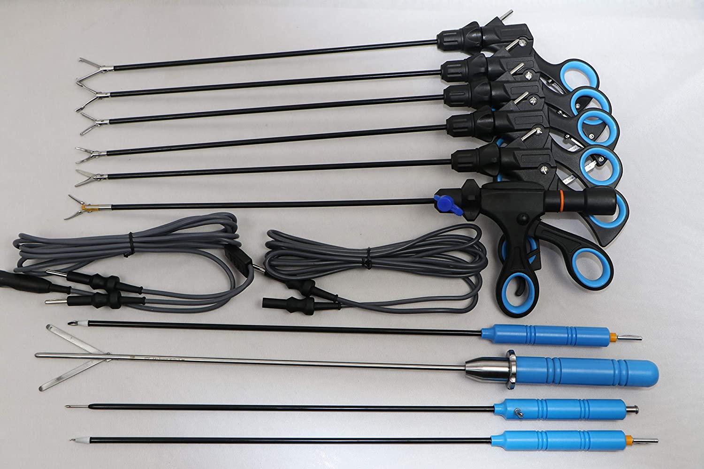 Laparoscopic Grasper Dissector Forceps,Fan Retractor,Cable, Monopolar Electrode