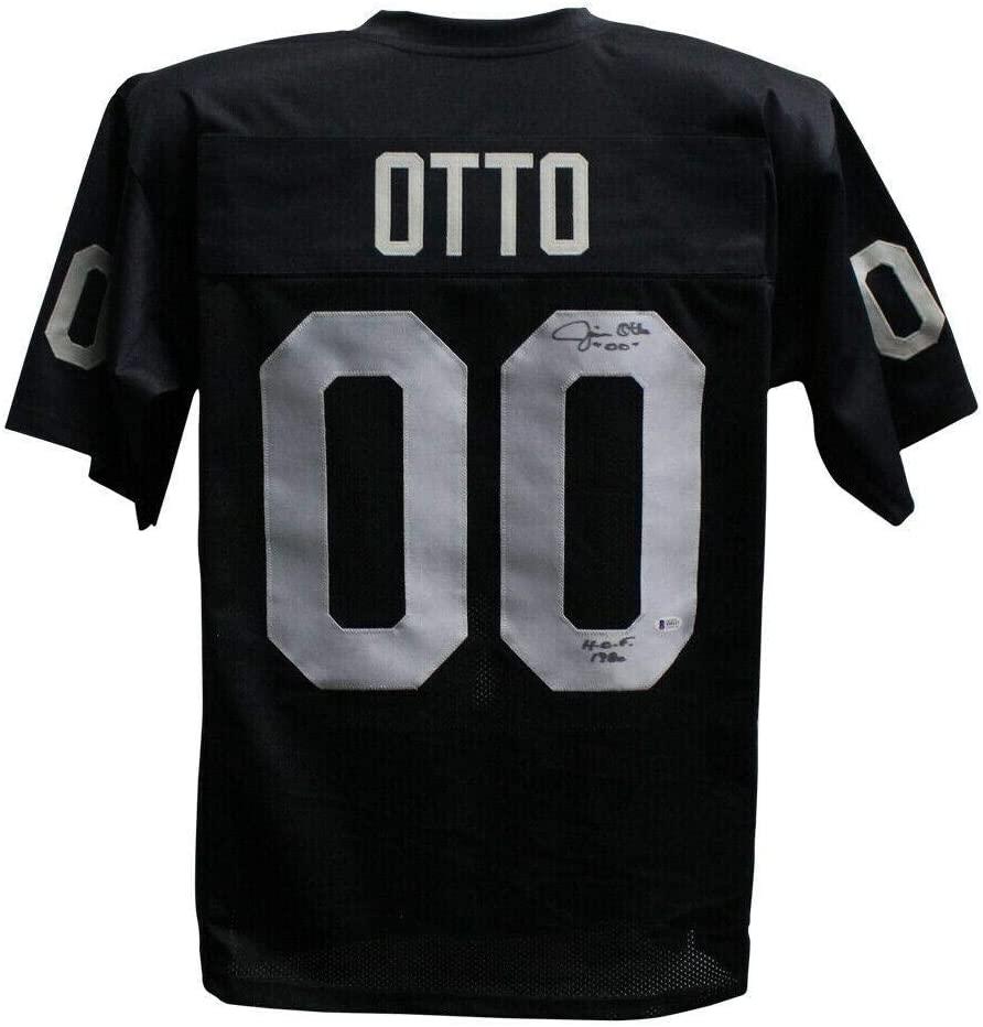 Signed Jim Otto Jersey - Pro Style Black XL HOF BAS 26512 - Beckett Authentication - Autographed NFL Jerseys