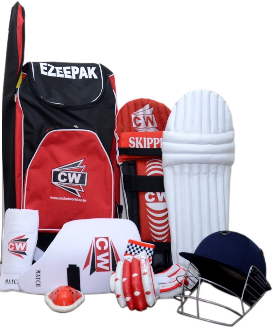 CW Player Choice Cricket Equipment Set Junior Without Bat Children Size 5 for 10-11 Yr