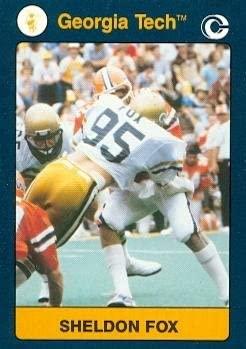 Sheldon Fox Football card (Georgia Tech) 1991 Collegiate Collection #102