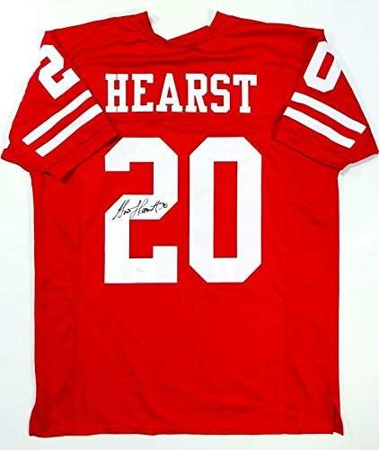 Autographed Garrison Hearst Jersey - Red Pro Style W Auth *2 - JSA Certified - Autographed NFL Jerseys