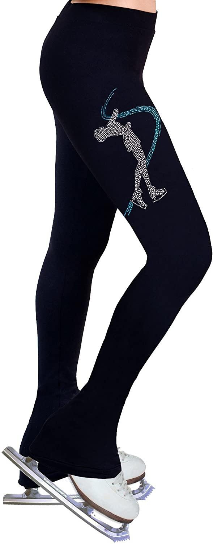 NY2 SPORTSWEAR Figure Skating Practice Pants with Rhinestones R234