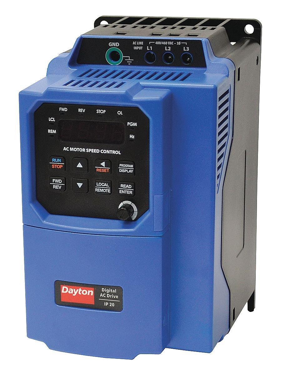 DAYTON, 32J578, Variable Frequency Drive, 3 HP, 460VAC