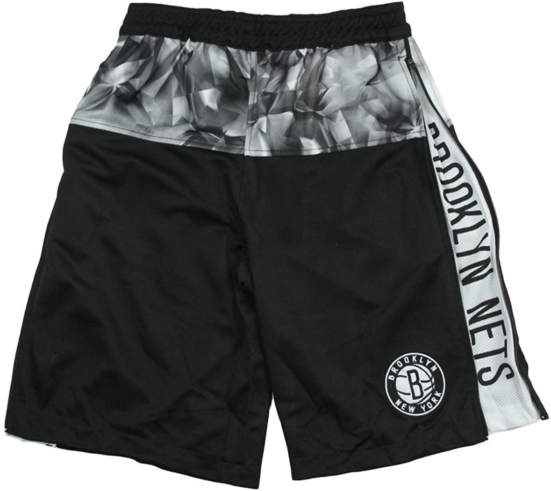 Brooklyn Nets NBA Big Boys Brilliant Baskebtall Shorts, Black and Grey
