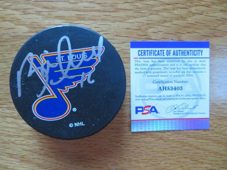 Brett Hull Autographed Signed Hofer St Louis Blues Hockey Puck PSA/DNA Ah53403 741 Goals