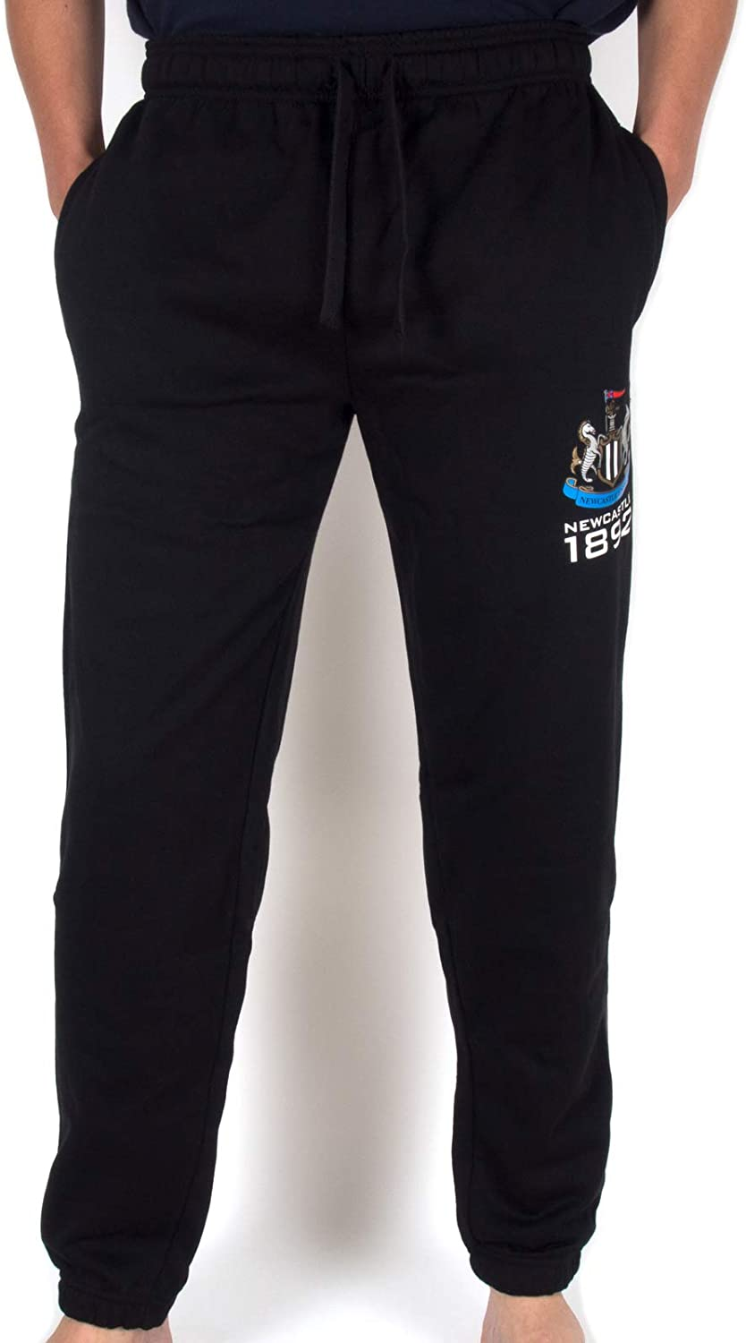 Newcastle United FC Official Soccer Gift Mens Fleece Joggers Jog Pants