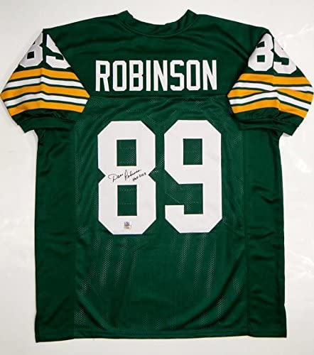 Dave Robinson (Green Bay Packers) Autographed Jersey - Pro Style W HOF Source Auth - Autographed NFL Jerseys