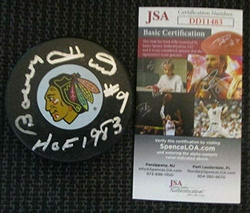 Authentic Autographed Bobby Hull Chicago Blackhawks Puck JSA Certified COA Dd11483