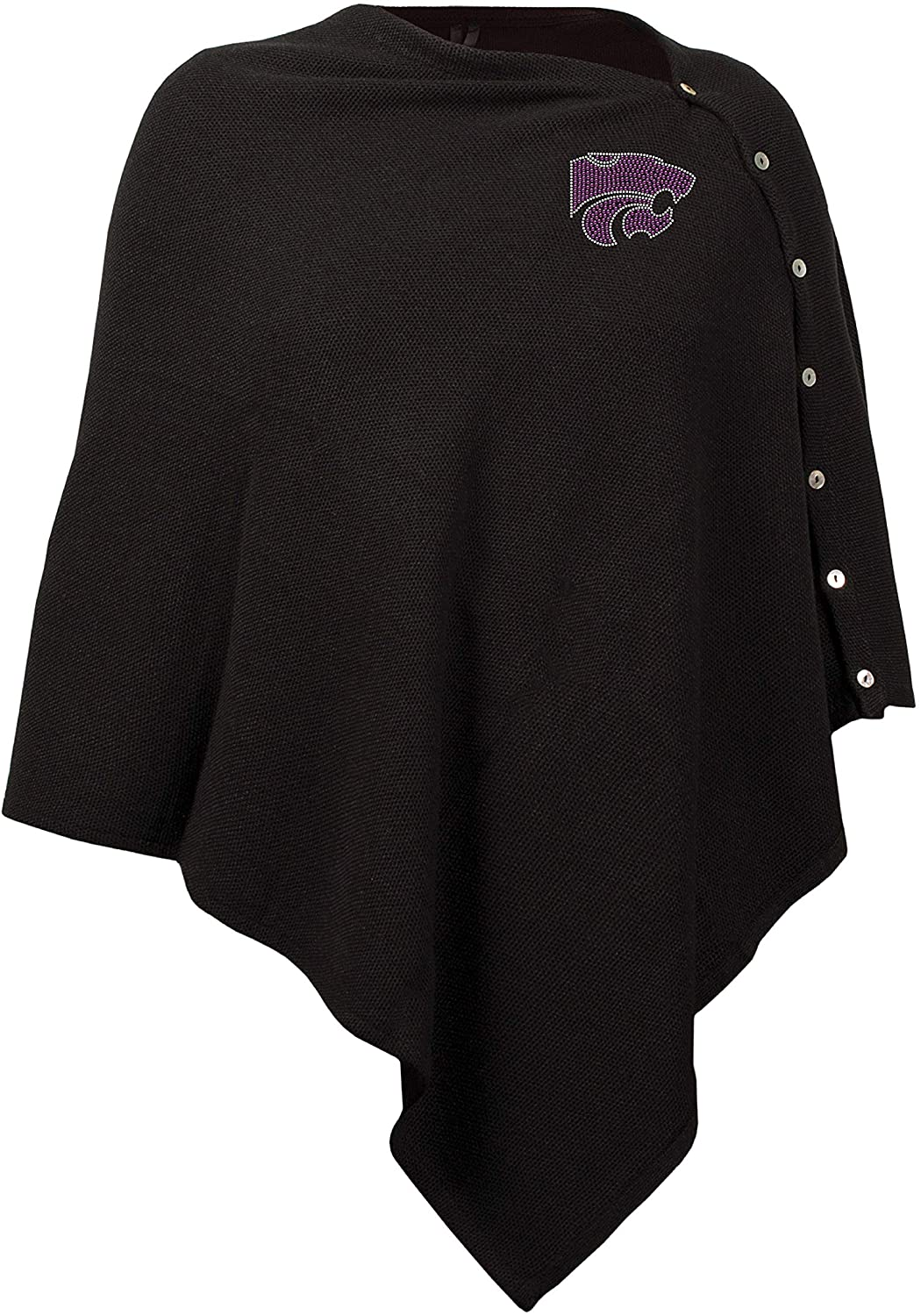 Littlearth NCAA Women's Black Out Button Poncho