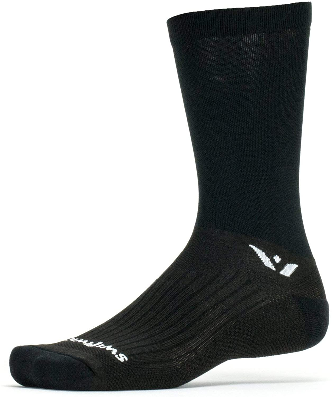 Swiftwick- PERFORMANCE SEVEN Cycling Socks, Wicking, Lightweight Crew