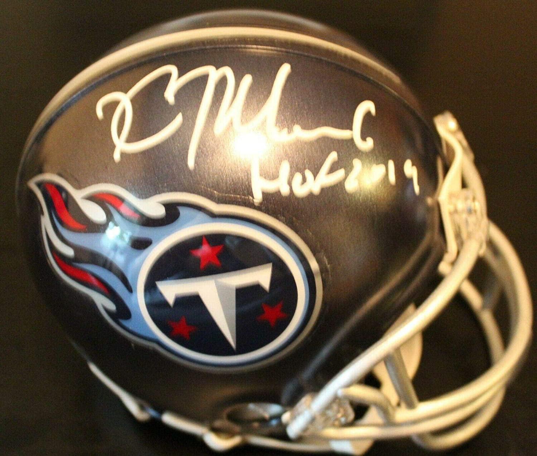 Kevin Mawae Autographed Helmet - Mini w COA Exact Proof HOF - Autographed NFL Mini Helmets