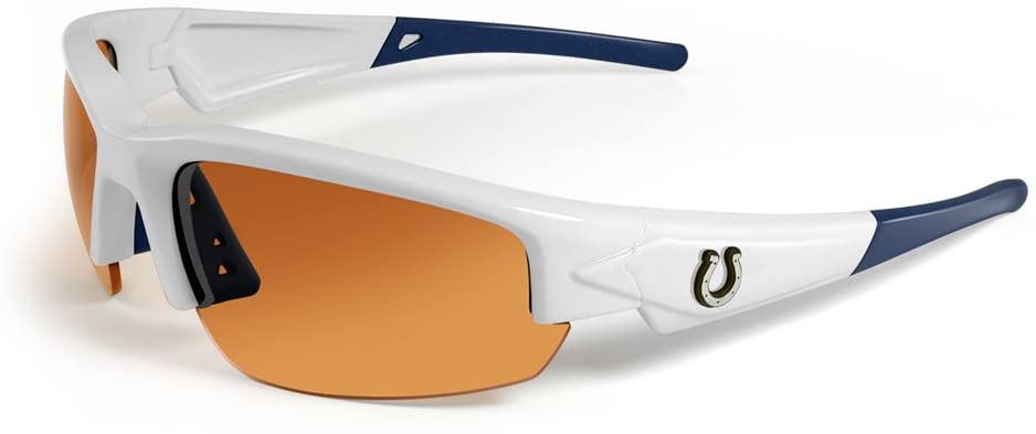 NFL Indianapolis Colts Dynasty Sunglasses, White/Blue