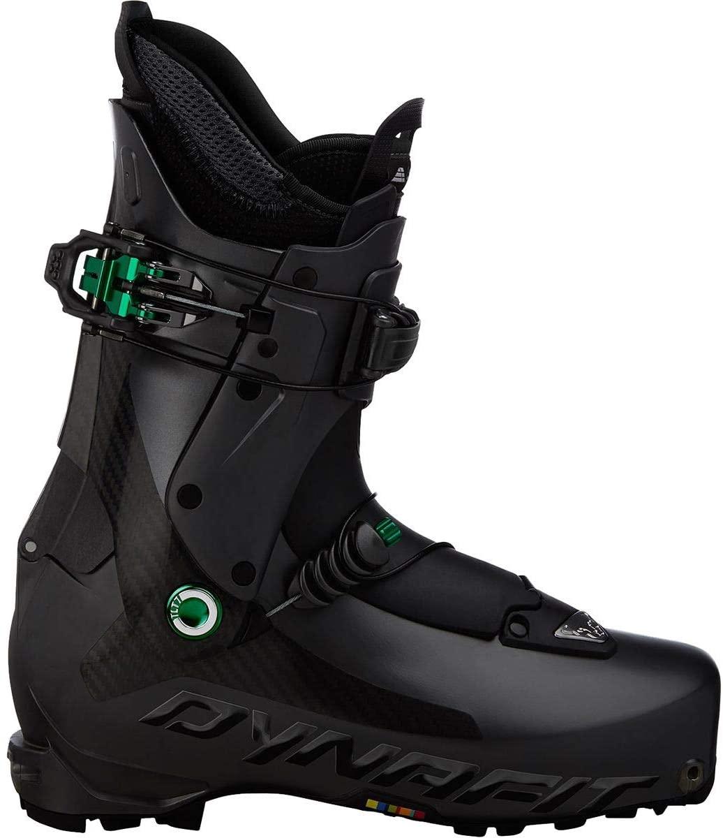 Dynafit TLT7 Carbonio Ski Boot, Carbon/Green, 26.5, 08-000006160226.5