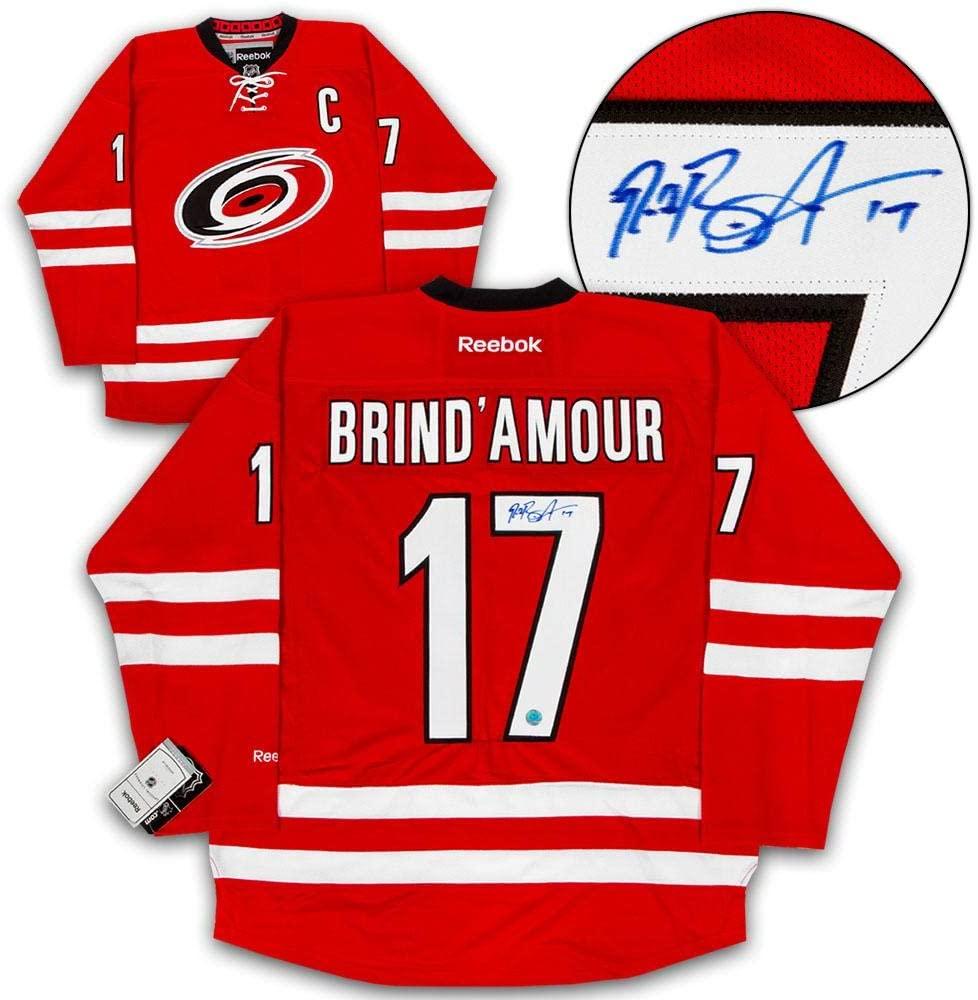 Rod Brind'Amour Carolina Hurricanes Autographed Reebok Premier Hockey Jersey - Autographed NHL Jerseys