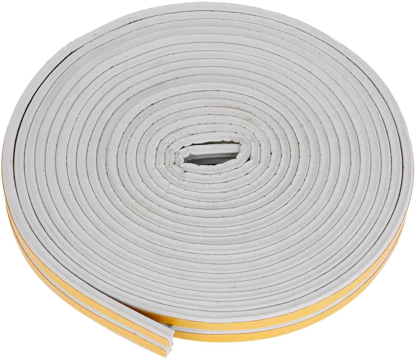 Indoor Weather Stripping, Self Adhesive EPDM Doors and Windows Draught Excluder Foam Seal Strip Soundproofing Collision Avoidance Rubber Weatherstrip, 7/20'' X 6/25'', 33ft, Grey