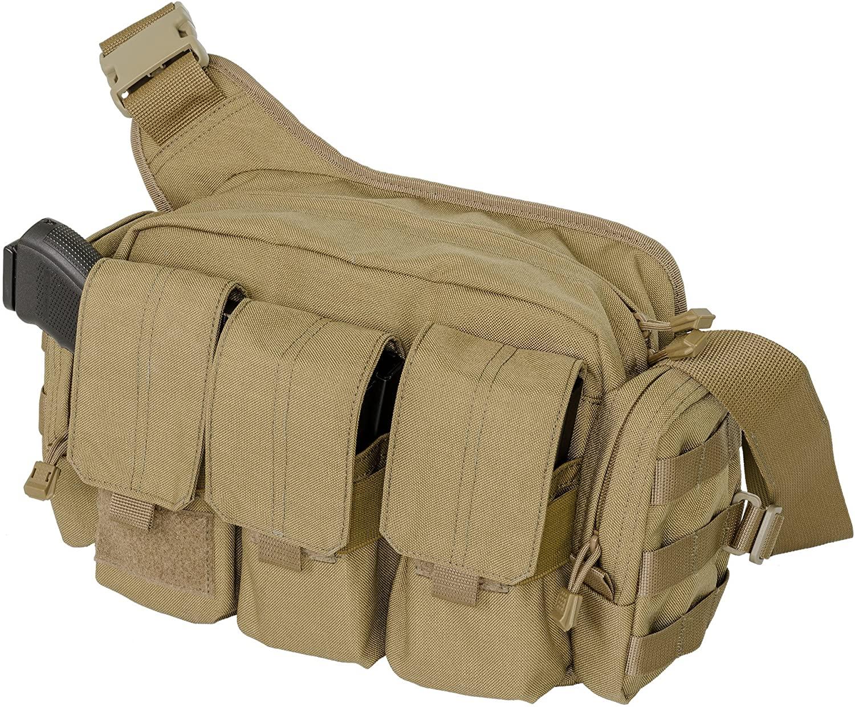 Tactical Bail Out Shoulder Bag, Coyote, Cordura