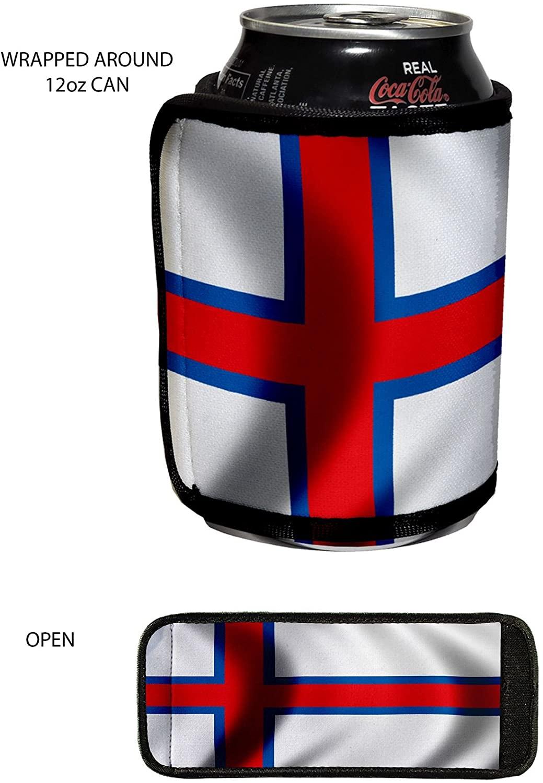 Beverage insulator wrap - Flag of Faroe Islands - Choose your design