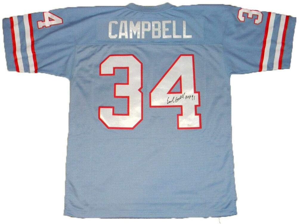 Earl Campbell Autographed Jersey - #34 Mitchell & Ness - JSA Certified - Autographed NFL Jerseys