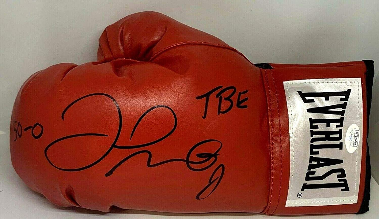 Floyd Mayweather Signed Autographed Red Boxing Glove Authen Left TBE 50-0 B - JSA Certified - Autographed Boxing Gloves