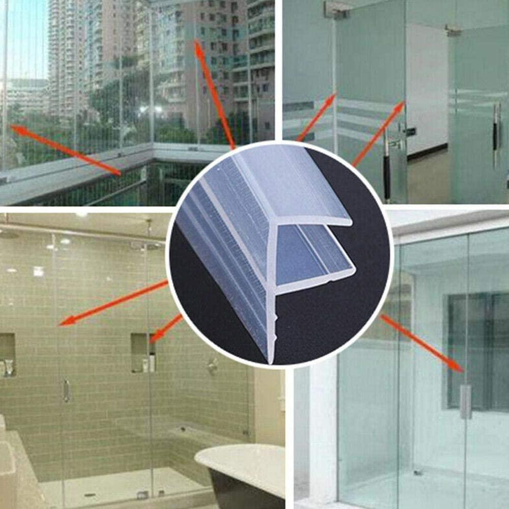 2m Silicone Shower Screen Seal Sliding Strip Plastic Glass BathRoom Fixture For Door Accessories Window Window Rubber 6/8MM Seal Strip (Width : 12mm)