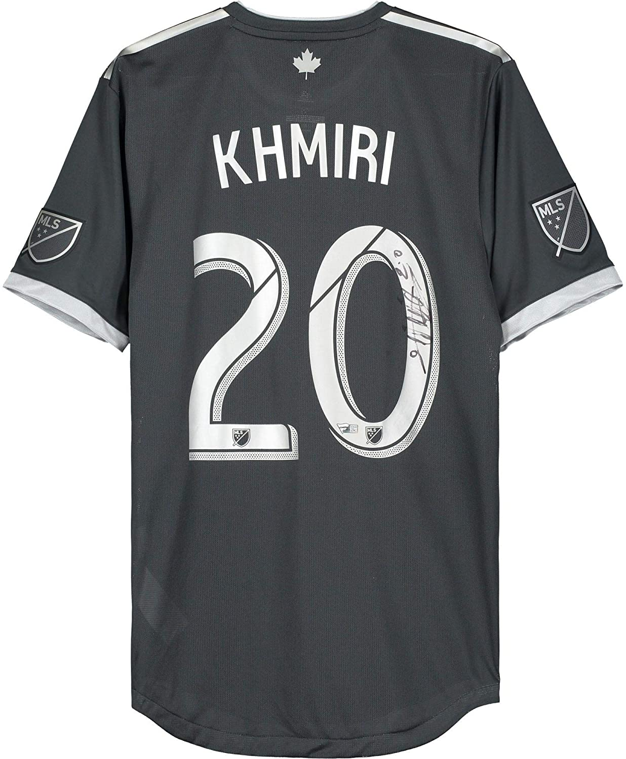 Jasser Khmiri Vancouver Whitecaps FC Autographed Match-Used #20 Gray Jersey from the 2019 MLS Season - Fanatics Authentic Certified