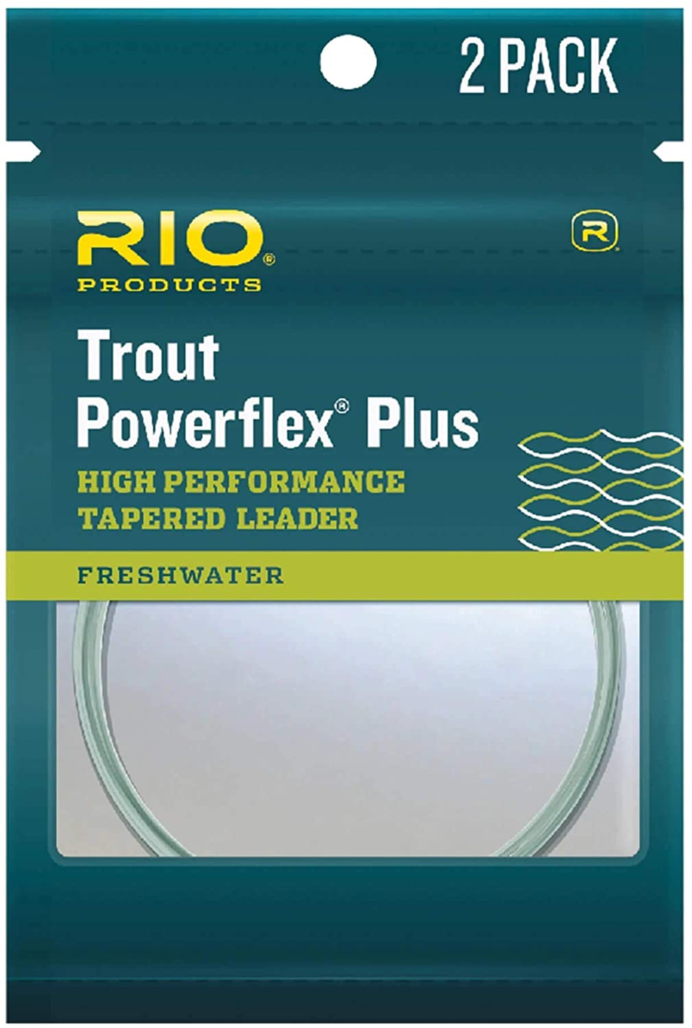 RIO Products Leaders Powerflex Plus 9' 7X Leader 2 Pack, Clear