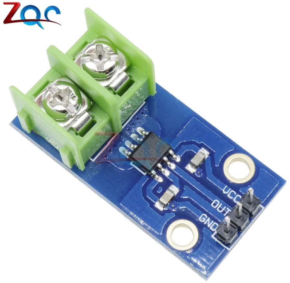 Fasilei ACS712 Module for Arduino 20A ACS712 20A Range Hall Current Sensor Module