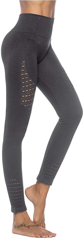 BBY Women Yoga Leggings, High Waist Tummy Control, Sports Leggings Running Tights Training Pants Casual Trousers (gray5, S)