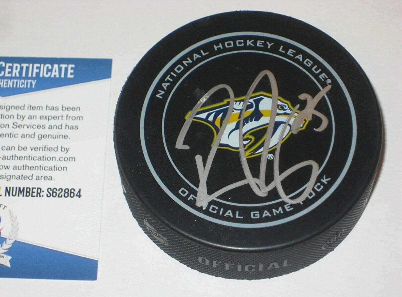 Pekka Rinne Autographed Hockey Puck - Official w Beckett COA - Beckett Authentication - Autographed NHL Pucks