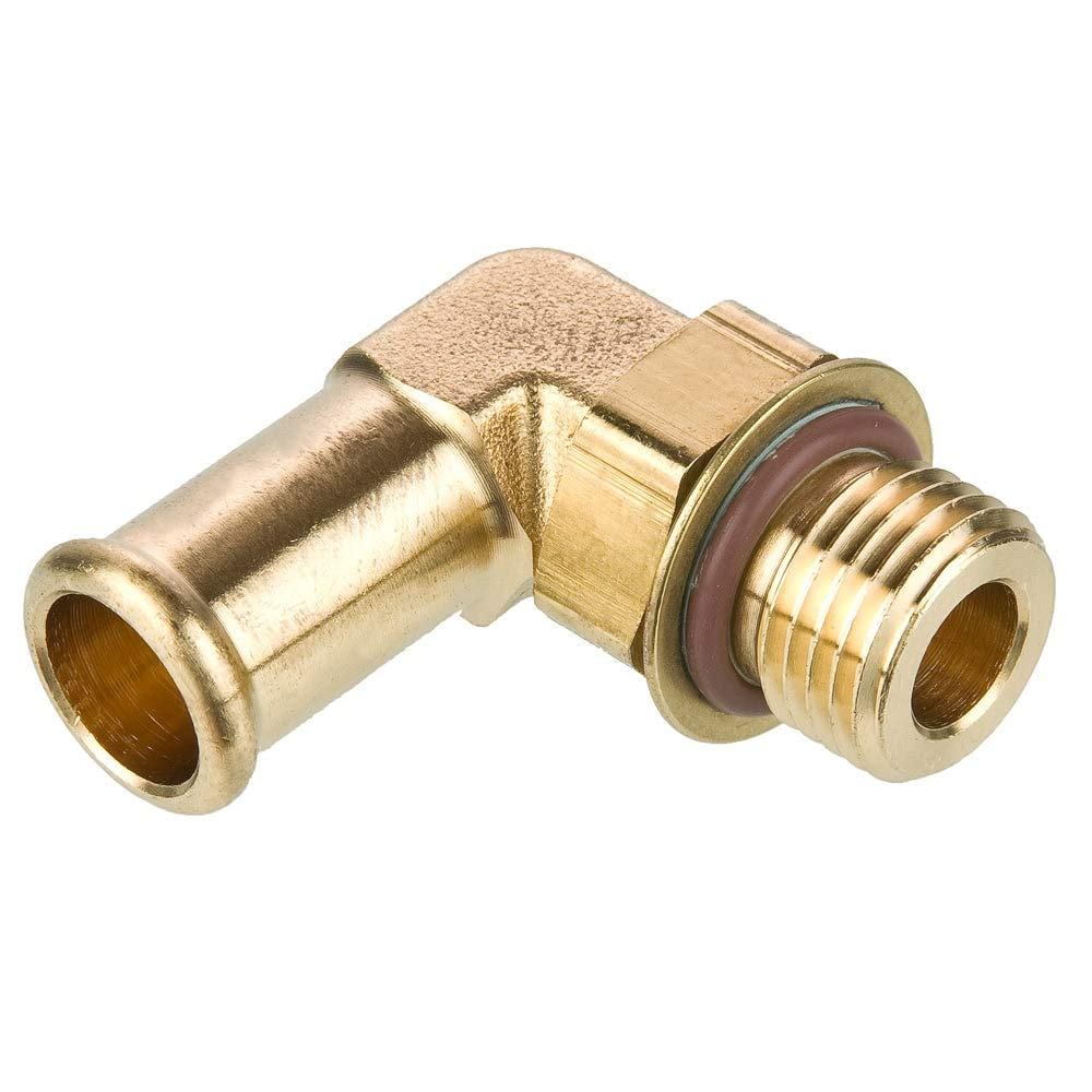 Parker Hannifin 1695HB-8-8-pk5 Elbow Hose Barb Fitting, Brass Body, Beaded, 90 Degree, 1/2