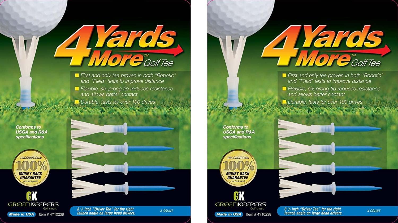4 Yards More Golf Tees - Blue