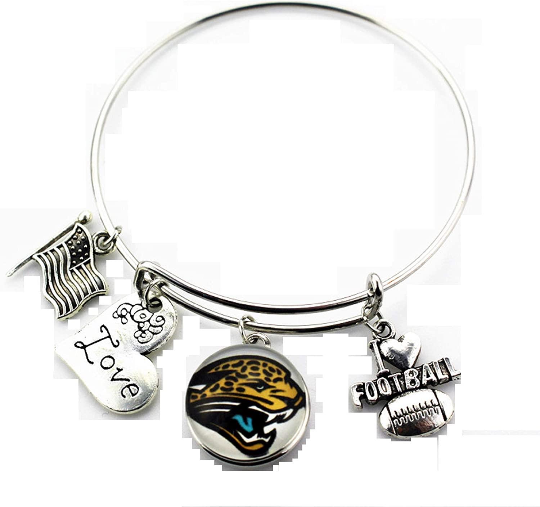 BAS Jacksonville Jaguars Metal Charm Bracelet 7