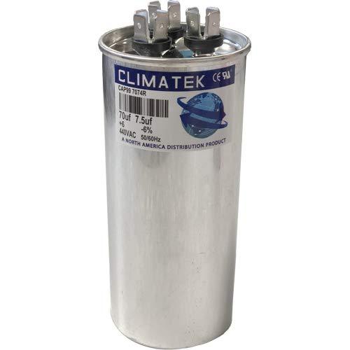 ClimaTek Round Capacitor - fits Totaline # P291-7073RS | 70/7.5 uf MFD 370/440 Volt VAC