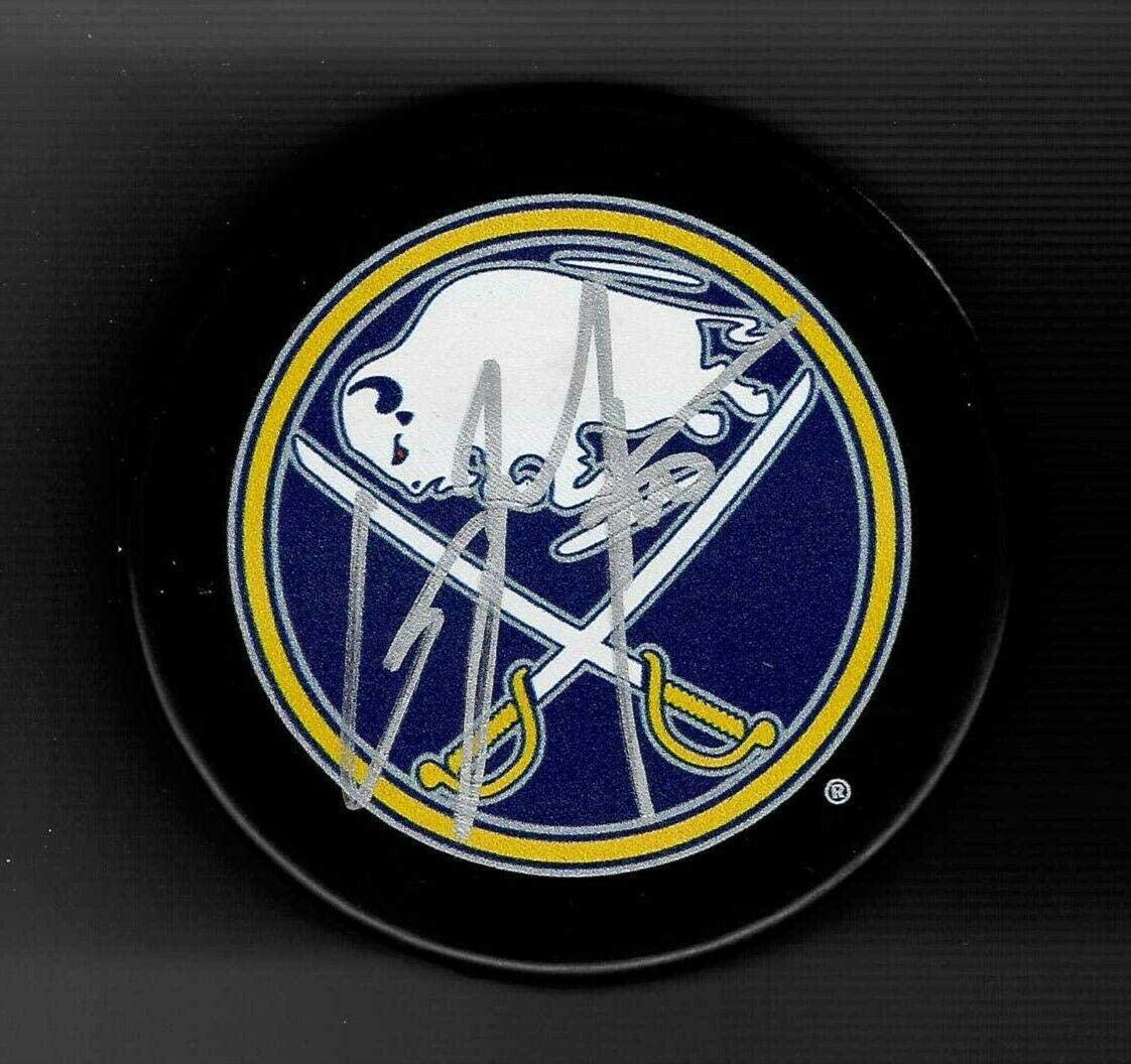 Casey Mittelstadt Signed Puck - Souvenir - Autographed NHL Pucks
