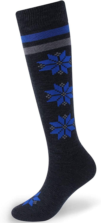 Facool Merino Wool Ski Socks, Knee High Skiing Socks,Snowboard Socks for Youth Men Women Winter