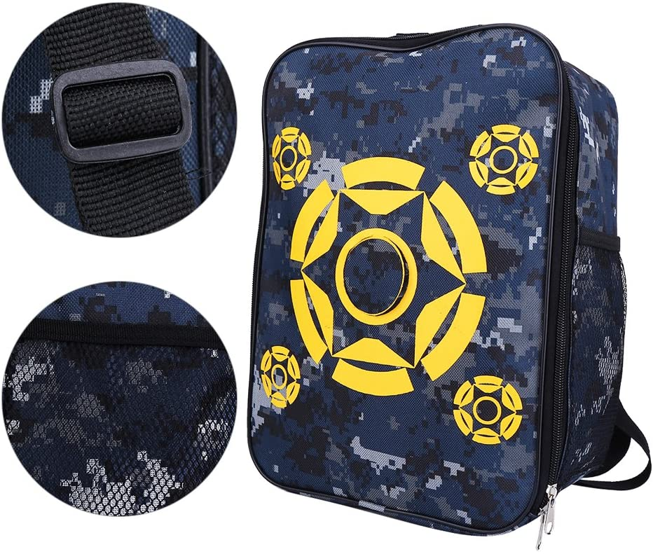 Portable Lightweight Target Pouch Storage Bag Target Pouch Backpack Equipment Carry Storage Bag Racksacks for Nerf Gun N-Strike Elite/Mega/Rival Series