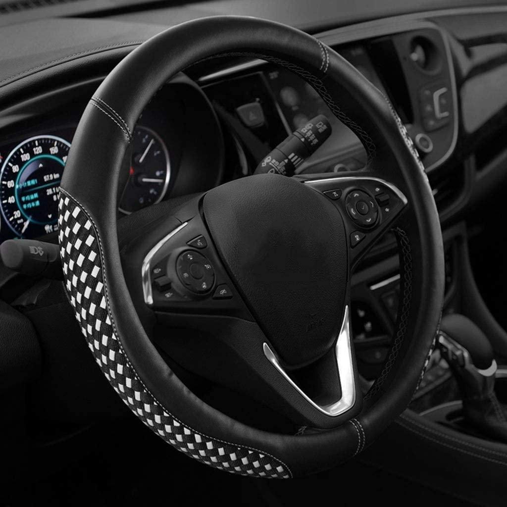 GuanRen Sweat-Absorbent Non-Slip Wear-Resistant Four Seasons Summer Ice Silk Breathable Universal Steering Wheel Cover Fits All Standard Size Steering Wheels
