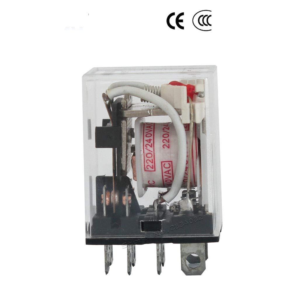 AC 220V Mini Relay HH62P Big 8 pins Coil Relay