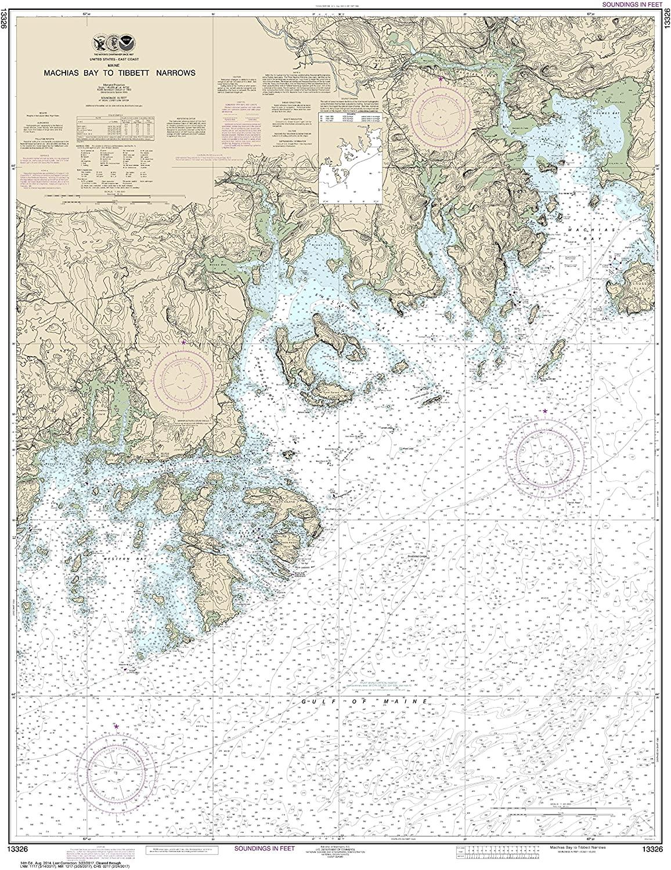 NOAA Chart 13326 Machias Bay to Tibbett Narrows: 45.13