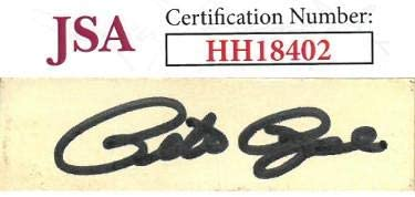 Pete Rose signed .5x2.25 Cut Signature- Hologram #HH18402 (Reds/Phillies) - JSA Certified - MLB Cut Signatures