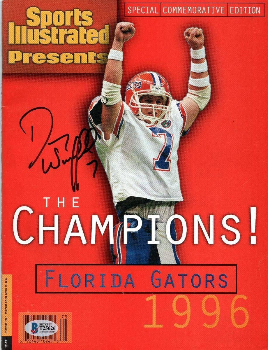 Danny Wuerffel Autographed Florida Gators 1996 National Champions Sports Illustrated Beckett Authenticated