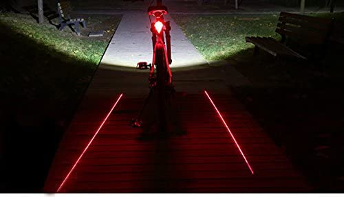 Bicycle Waterproof 3-Mode 8-LED Colorful Bicycle Laser Tail Light Color Green