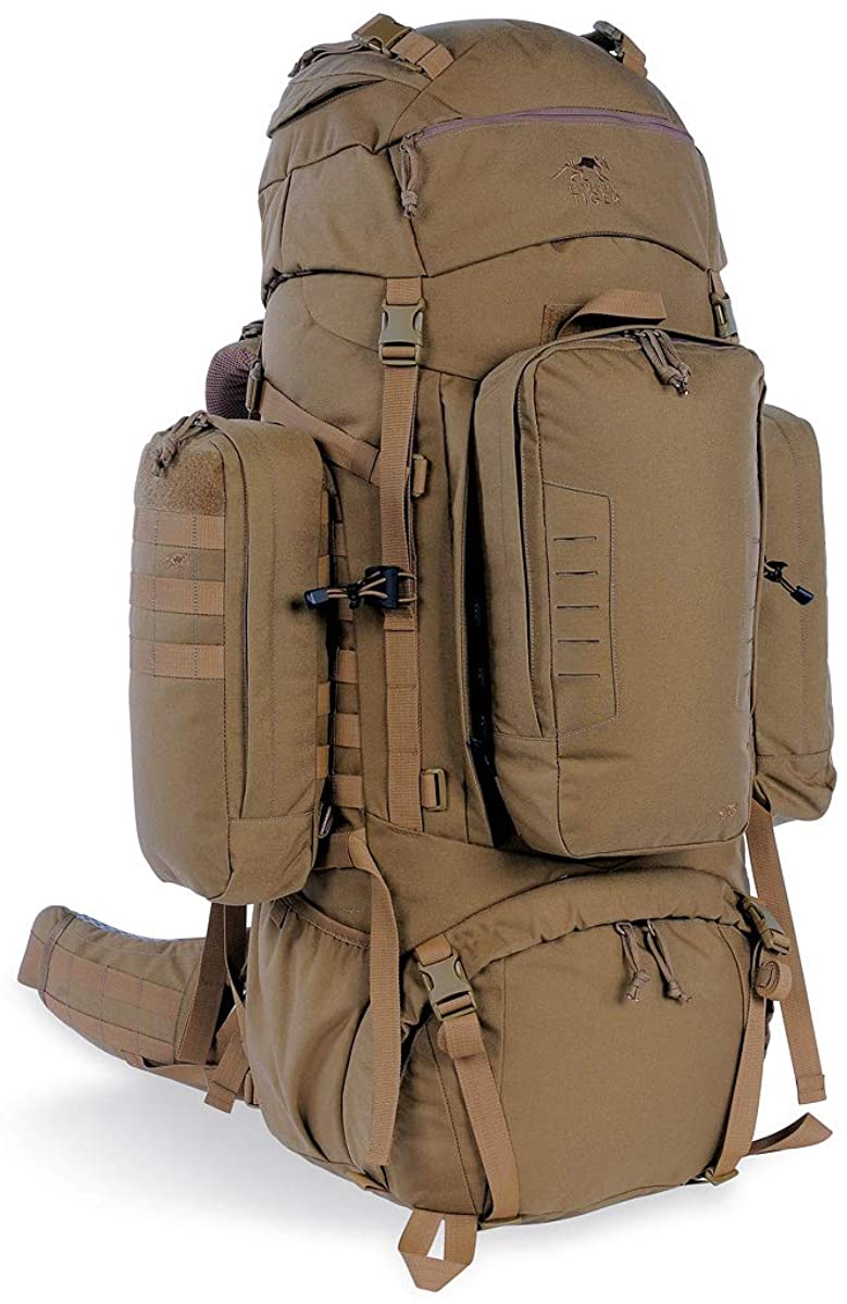 Tasmanian Tiger Range Pack Mk II, 100L MOLLE Military Backpack with Detachable Pockets and Lid, YKK Zippers
