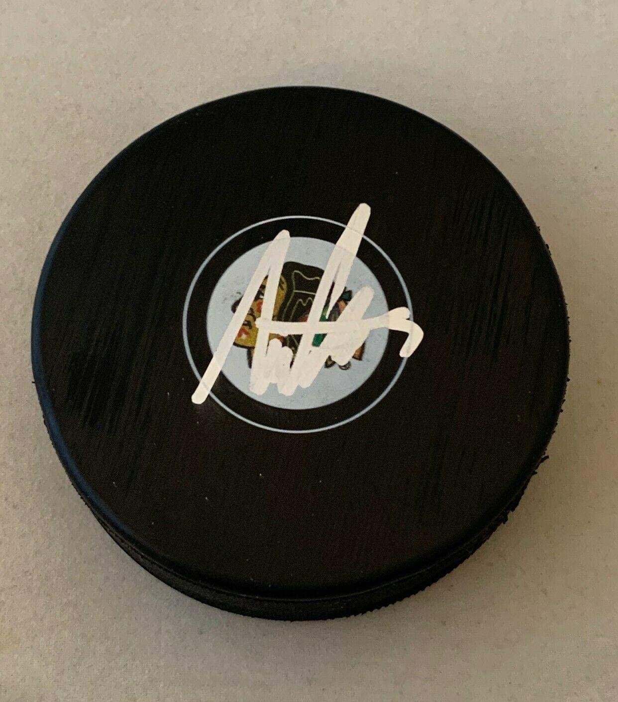 Alex Vlasic signed Chicago Blackhawks Puck autographed Hawks - Autographed NHL Pucks
